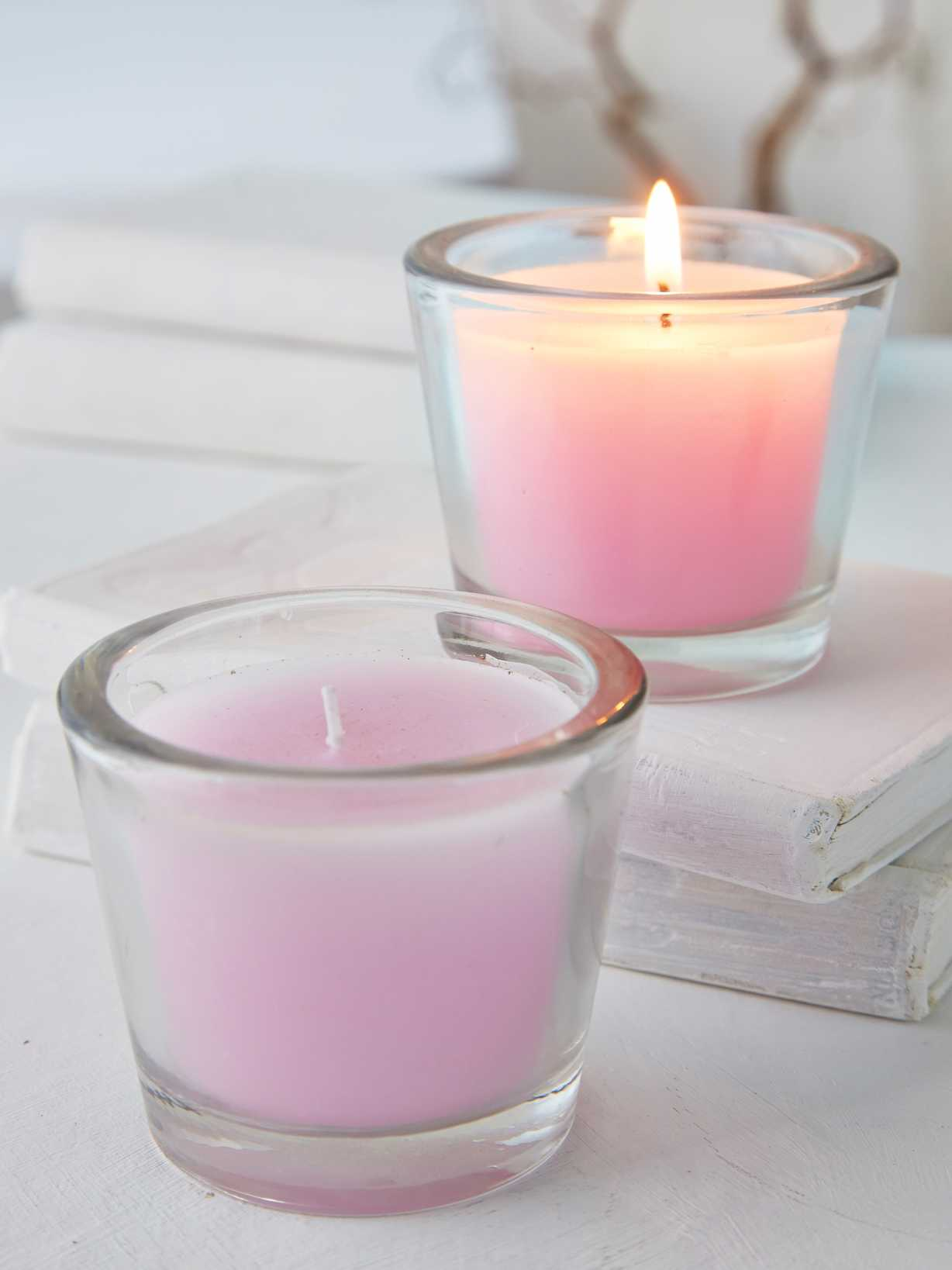 Nordic House Pastel Lilac Glass Candle Votive