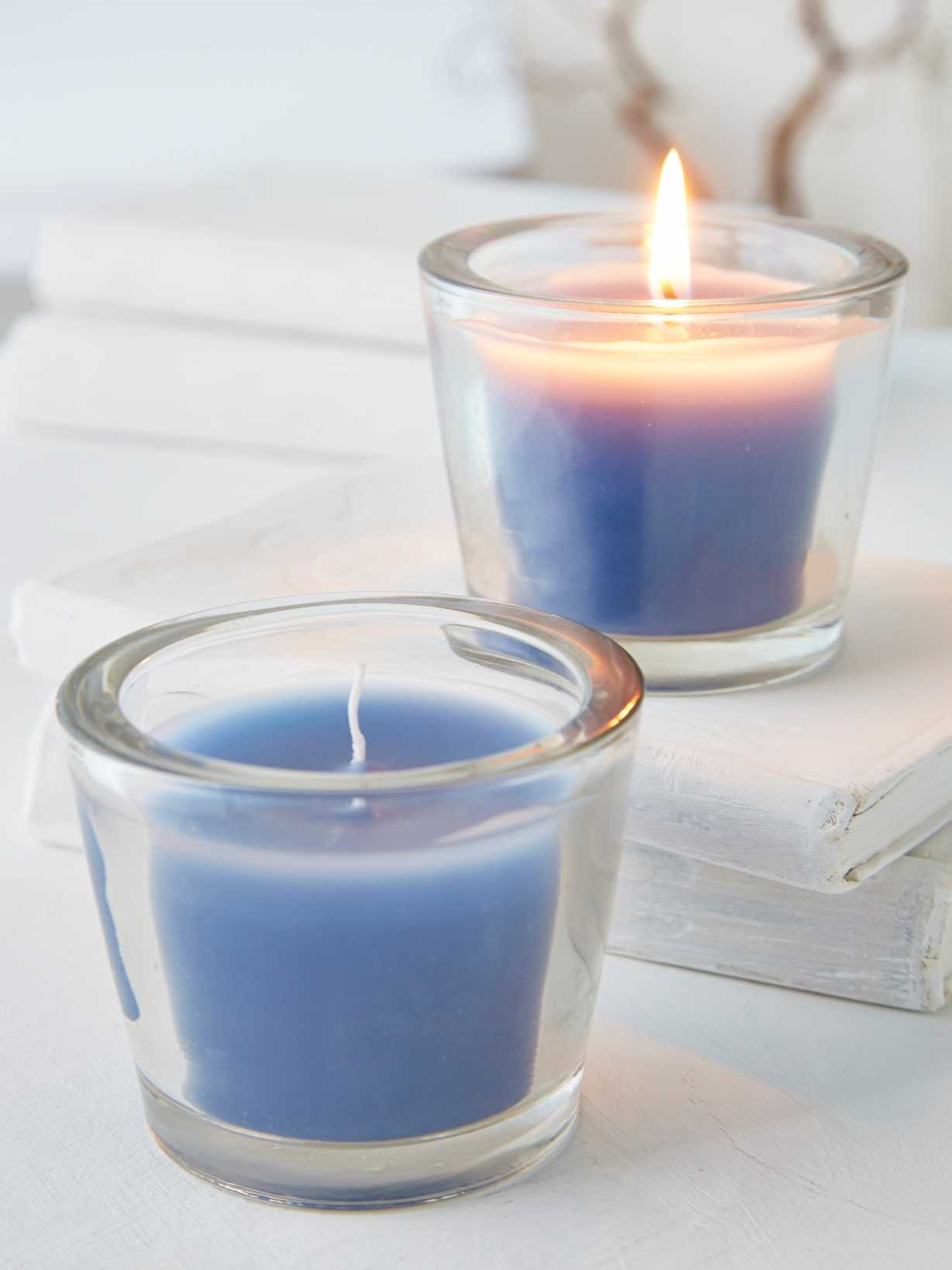 Nordic House Nordic Blue Glass Candle Votive
