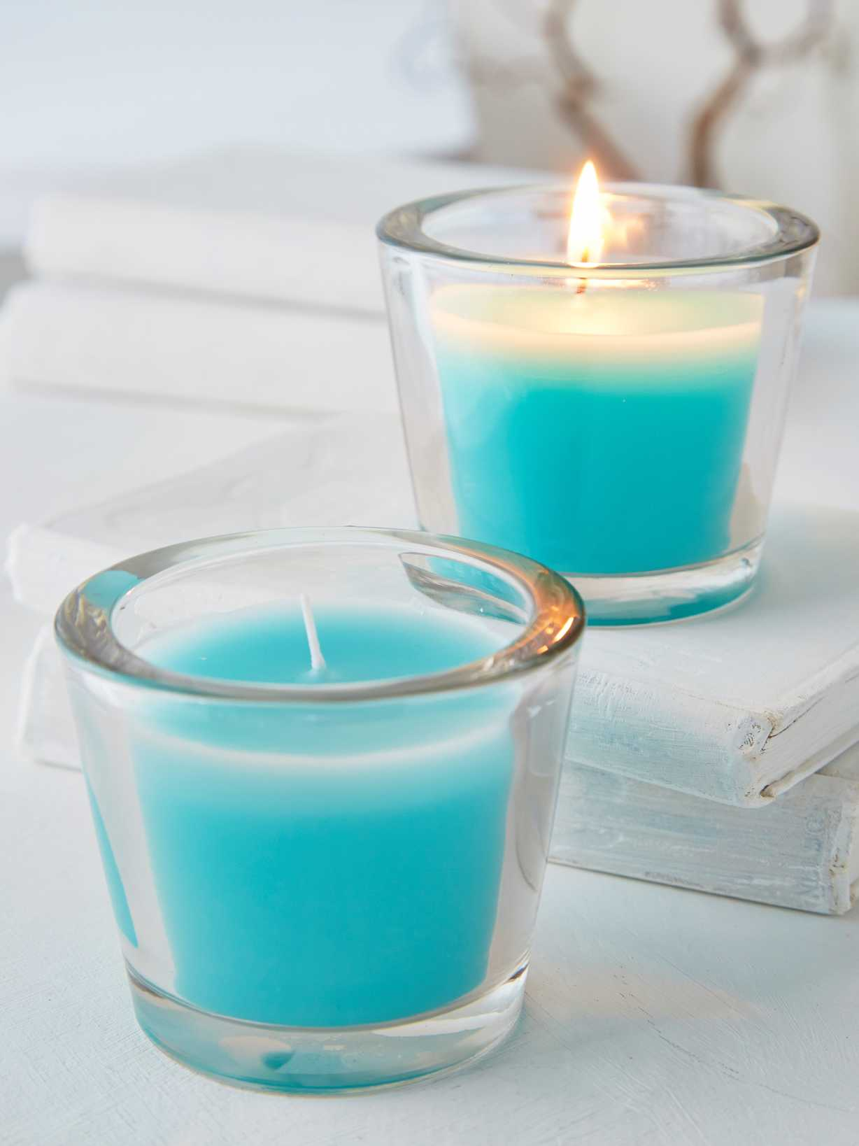 Nordic House Topaz Glass Candle Votive