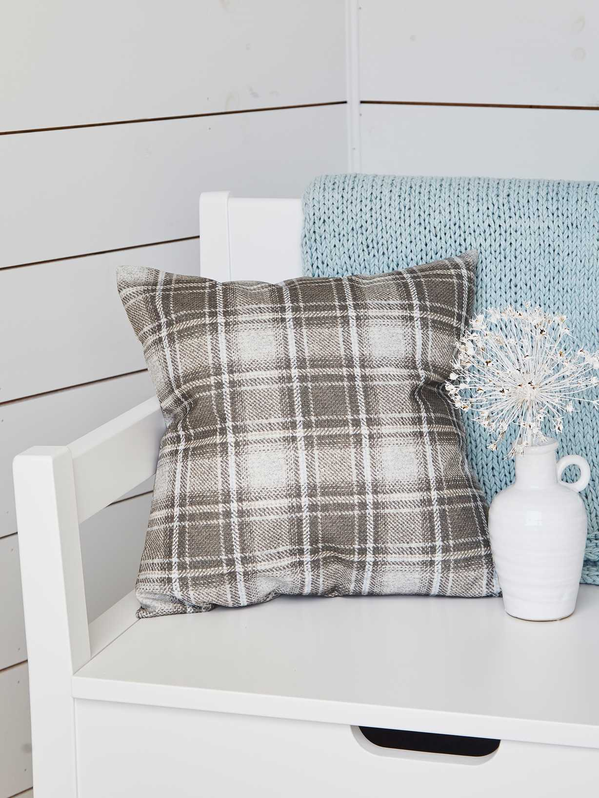 Nordic House Nordic Plaid Cushion - 40x40