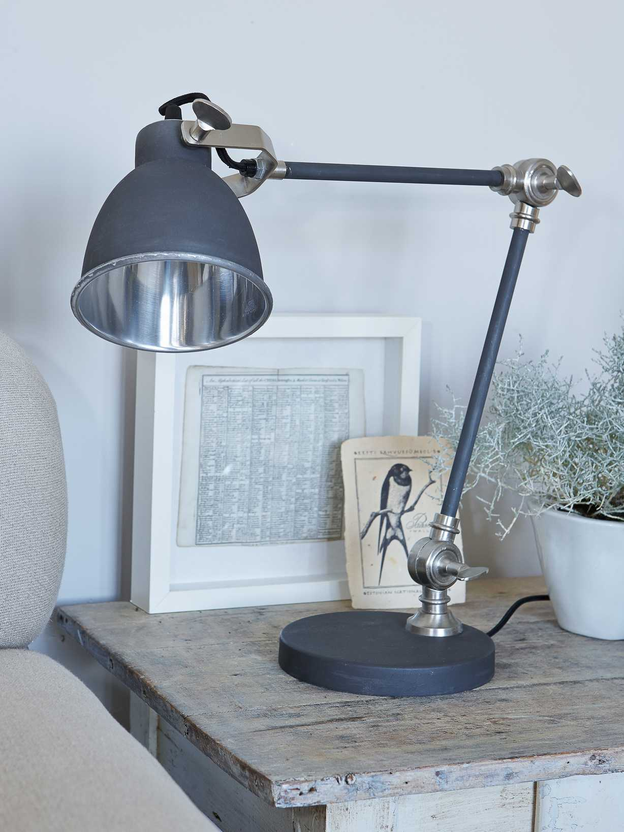 Nordic House Metal Desk Lamp - Matte Charcoal