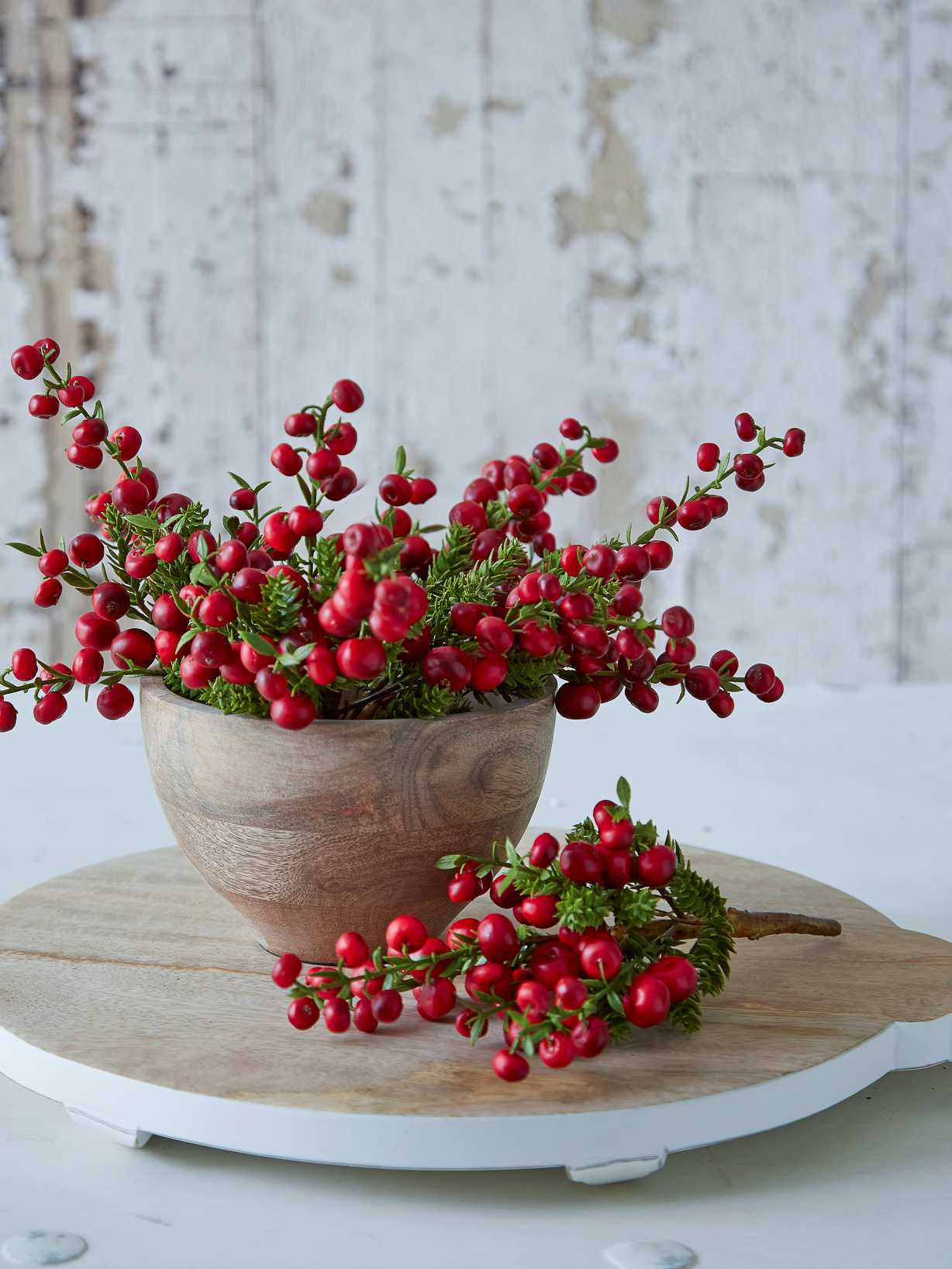 Nordic House Faux Red Berry Branch
