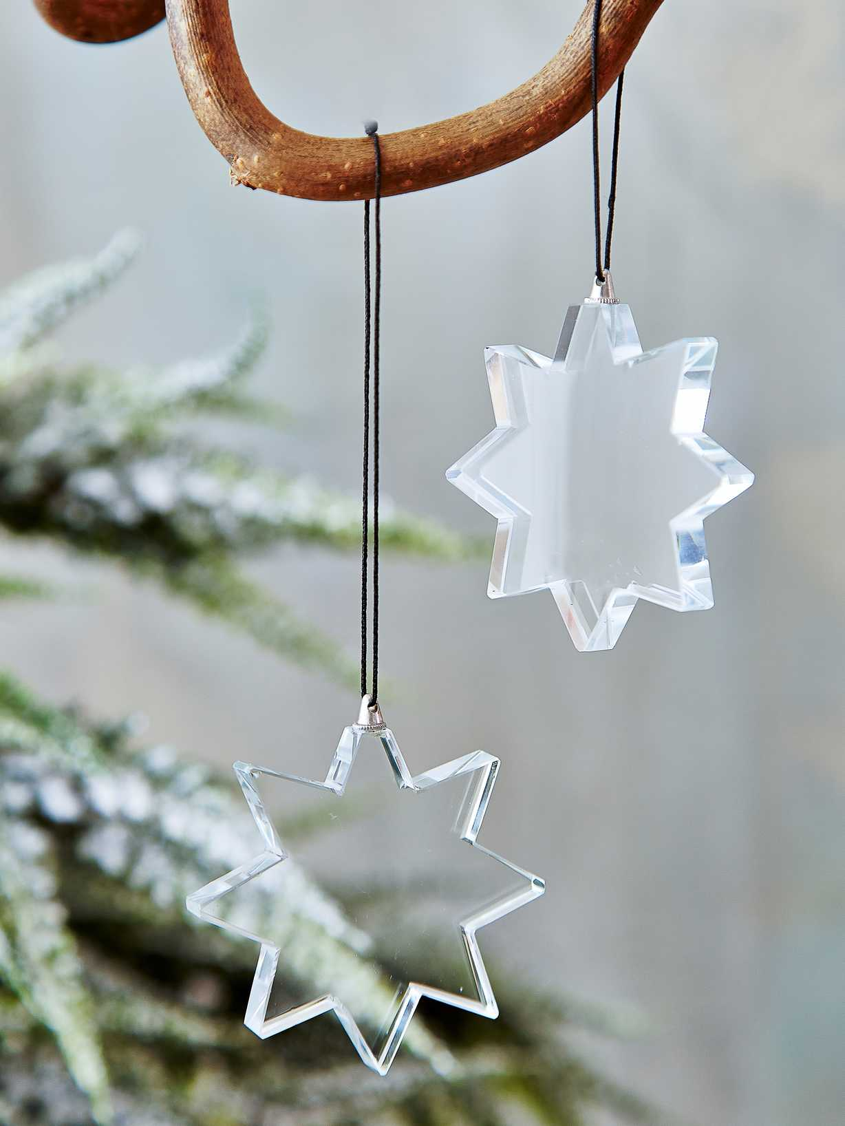Nordic House Glass Star Tree Ornament