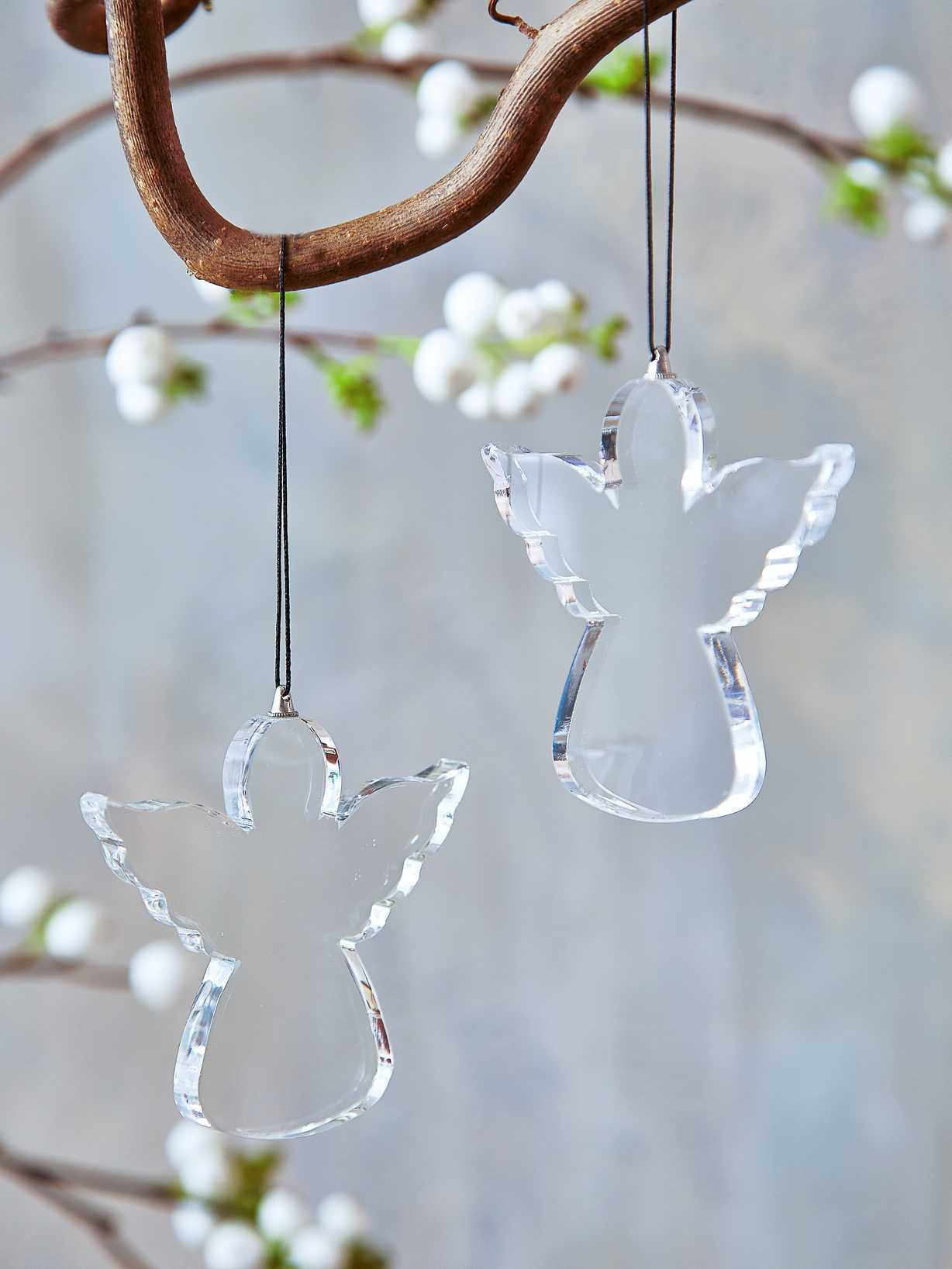 Nordic House Glass Angel Tree Ornament