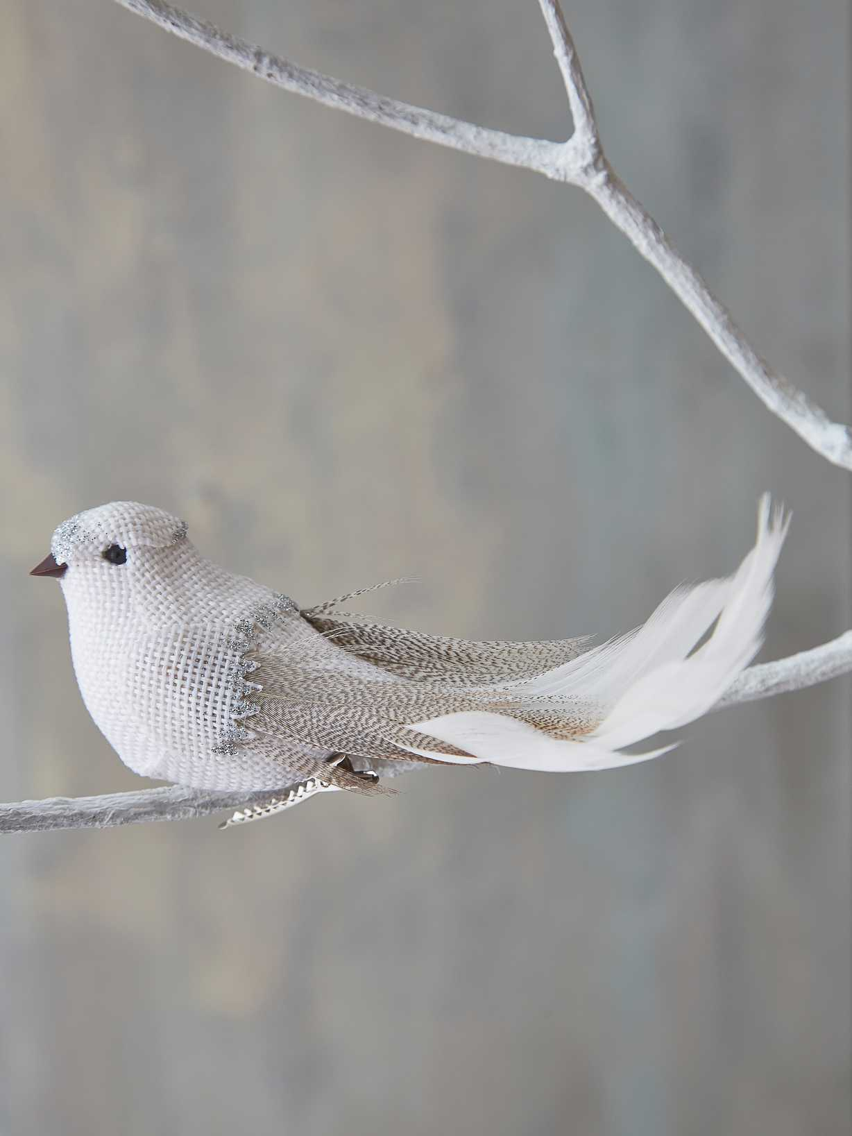 Nordic House White Bird Tree Ornament