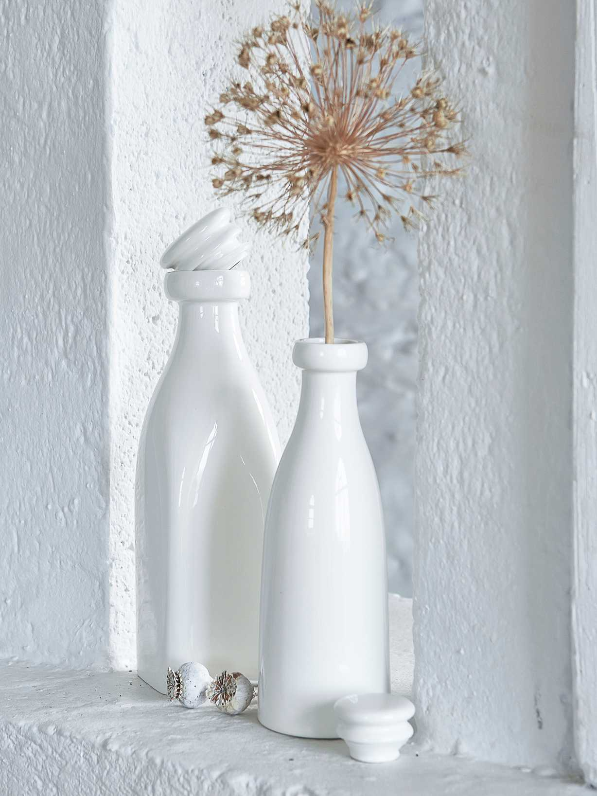 Nordic House White Ceramic Bottles