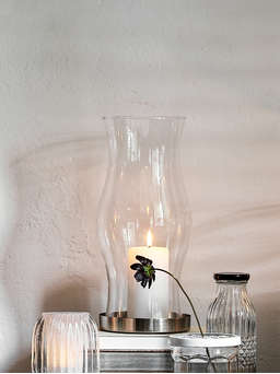 Nordic House Hand-Blown Hourglass Hurricane Sleeve