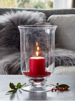 Nordic House Artisan Glass Hurricane Lamp