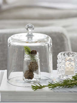 Nordic House Glass Bell Jar