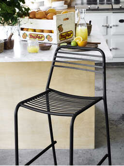 Nordic House Elegant Metal Bar Stool