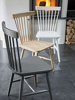 Nordic House Blom Dining Chair -  Grey