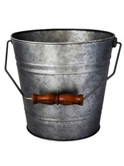 Nordic House Galvanised Zinc Bucket
