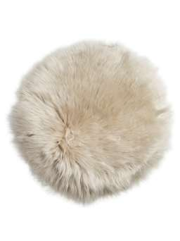 Nordic House Luxurious Sheepskin Seat Cover - Champagne