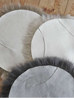 Nordic House Luxurious Sheepskin Seat Cover - Grey
