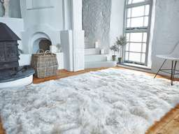 Nordic House Luxurious XL Sheepskin Rug - Linen