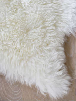 Nordic House Luxurious Sheepskin Rug - Ivory