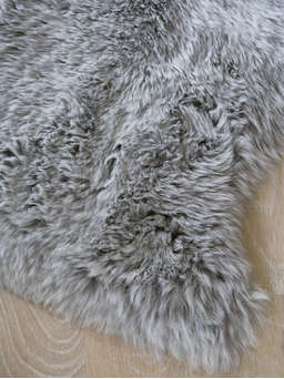Nordic House Luxurious Sheepskin Rug - Light Grey