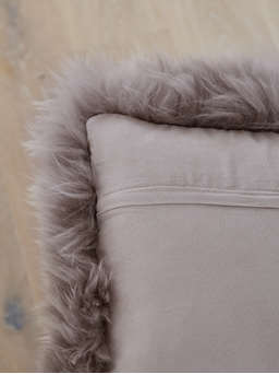 Nordic House Luxurious Sheepskin Cushion - Dove