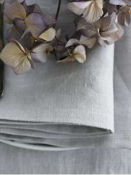 Nordic House Pale Grey Table Linen