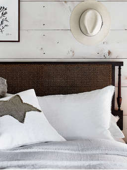 Nordic House White Pom Pom Linen Bedding