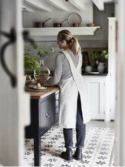 Nordic House Linen Cross Back Apron - Natural