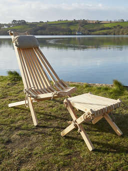 Nordic House Larch Ecochair with Linen Headrest