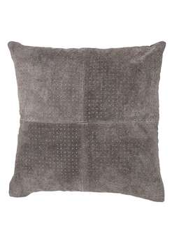 Nordic House Grey Suede Cushion