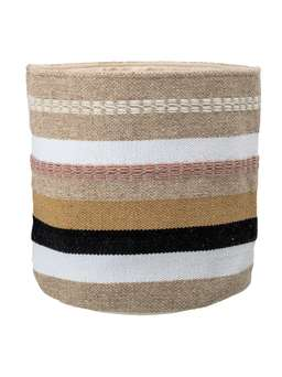Nordic House Striped Woven Basket