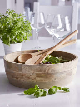 Nordic House Wooden Salad Bowl