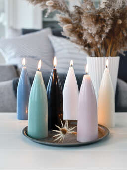 Nordic House Danish Cone Candle - Deep Black