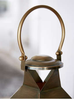 Nordic House Extra Large Antique Brass Lantern