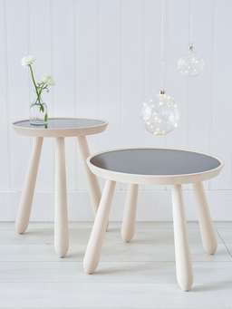Nordic House Hand-Crafted Contemporary Side Tables