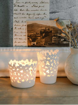 Nordic House Kalmar Porcelain Tealight Holders