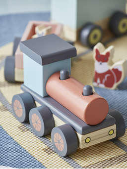 Nordic House Wooden Train Set