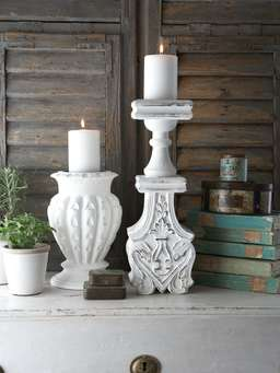 Distressed Pillar Candle Holder Distressed Wood Candle