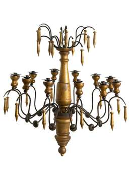 Nordic House Gold Candle Chandelier