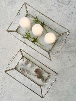 Nordic House Glass Treasure Trays