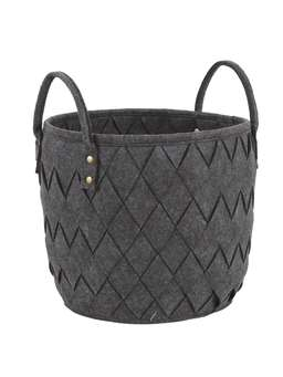 Nordic House Woven Basket Set - Slate Grey