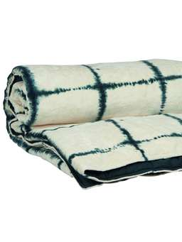 Nordic House Tie-Dyed Velvet Quilted Throw - Narrow Stripe