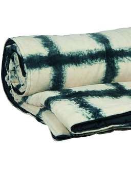 Nordic House Tie-Dyed Velvet Quilted Throw - Broad Stripe
