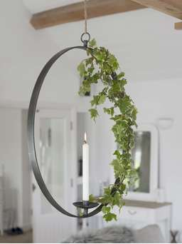 Nordic House Hanging Wrought Iron Candle Holder