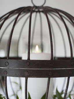Nordic House Rusty Cage Candle Hurricane - XL