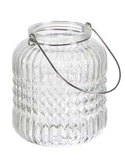 Nordic House Hanging Glass Tealight Set - Clear