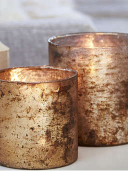 Nordic House Antique Copper Hurricanes