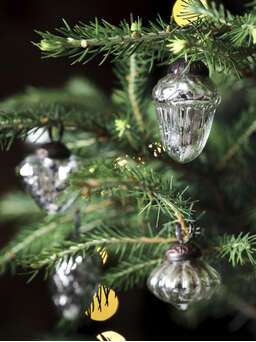Nordic House Vintage Mini Bauble Set - Silver
