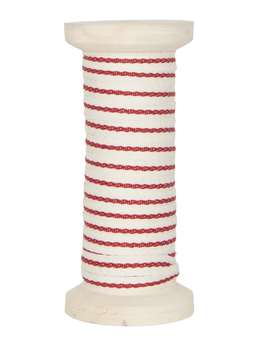 Nordic House Red Striped Ribbon Bobbin