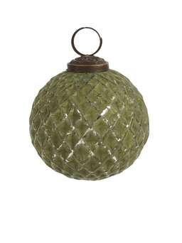 Nordic House Soft Green Bauble - Harlequin