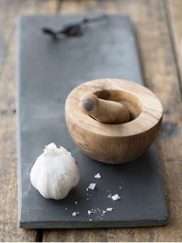 Nordic House Olive Wood Pestle & Mortar