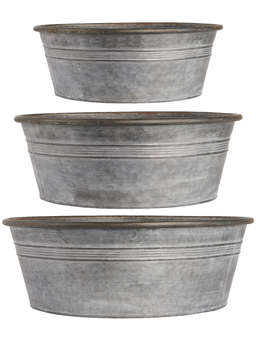 Nordic House Zinc Tub Set