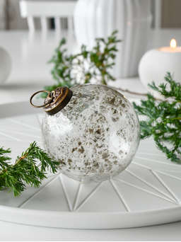 Nordic House Vintage Clear Glass Bauble